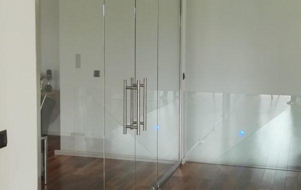 Drzwi wahadłowe szklane