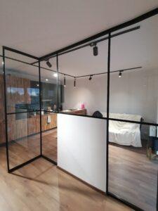 Ścianka szklana do kuchni