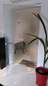 nowoczesne drzwi szklane motyw wieży