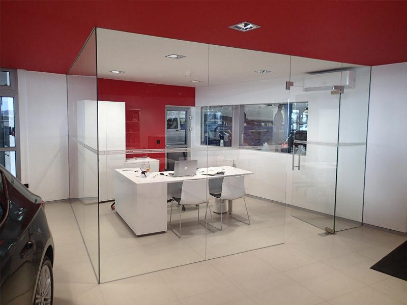 szkło w biurze